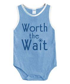 Look what I found on #zulily! Blue 'Worth the Wait' Bodysuit - Infant #zulilyfinds