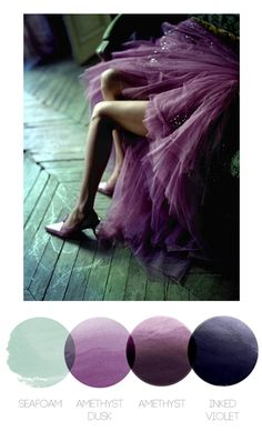 Seafoam, Amethyst and Ink color inspiration from fashion