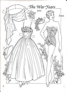The War Years 1951 Paper Doll by Charles Ventura - Nena bonecas de papel - Picasa Web Albums