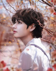 """""""Ode to spring 🌺 Bts Taehyung, Jimin, Subaru, Tie Dying Techniques, V Bts Wallpaper, Boy Photography Poses, Kpop, Bts Lockscreen, Bts Pictures"""