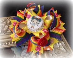 Kai Lan, rainbow and roses