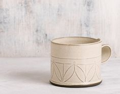 this is the cup every body in the family will fight for! white Ceramic mug , Modern tea cup , patterned coffee Cup, textured coffee mug , minimalist