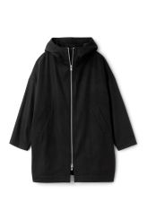 <p>The Joan Coat is made from a recycled wool-blend and has a big, oversized silhouette. It has a double-layered hood, two slanted front pockets and a zip closure along the front.</p><p>- Size Small measures 146,50 cm in chest circumference, 90,50 cm in length and 53,50 cm in sleeve length.</p>