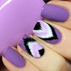 Purple Ikat nails. (by @thenailtrail on IG)