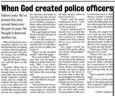 When God Created Police Officers ♥♡ | Police Quotes - For My Sr. Officer