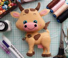 Мастер-класс: Фетровая коровка Привет, мои фетровые друзья! Сегодня вместе с вами мы сотворим вот такую милую и добрую коровку из фетра....