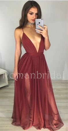 Newest Sexy V-Neck Backless Long Formal Dresses,Simple Evening Dress, Sexy Deep V Neck Prom Dress, Evening Prom Dress, G066