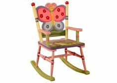 Schommelstoel met vlinder, model Magic Garden | Tafeltjes & stoelen