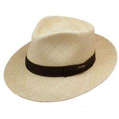 Stetson Retro Panama Straw Hat.
