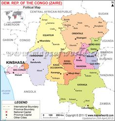 Democratic Republic Of Congo Map