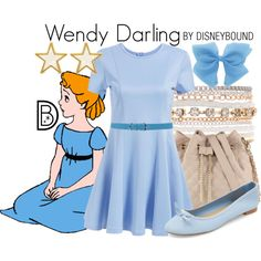 Wendy Darling by leslieakay on Polyvore featuring ALDO, Lane Bryant, George & Laurel, Dsquared2, disney, disneybound and disneycharacter