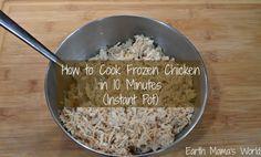 How to Cook Frozen Chicken in 10 Minutes (Instant Pot)