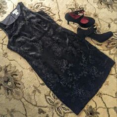 Ann Taylor velvet little black dress Elegant, classy Ann Taylor velvet knee length little black dress.  Great holiday party cocktail dress.  NWT size 2 Ann Taylor Dresses