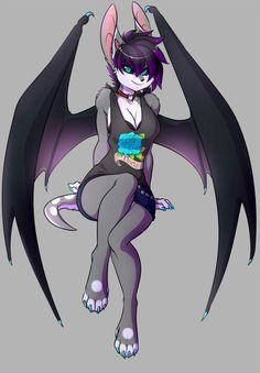 Species: Bat Gender: Girl Age: 19 Personality: She is a naughty little girl and doesn't like going by the rules and it's really hard to read her thoughts. Anime Neko, Anime Furry, Anime Wolf, Anime Art, Furry Wolf, Furry Art, Character Inspiration, Character Art, Furry Girls