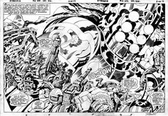A stunning double page spread from the Eternals #10 (1976), by Jack Kirby &…