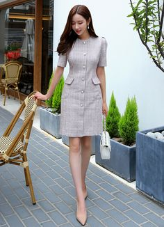 Related posts:Messy hair after a great workThe cute outfitWith open and closed eyes Office Dresses For Women, Dresses For Work, Clothes For Women, Classy Work Outfits, Classy Dress, Beautiful Dress Designs, Beautiful Dresses, Dress Outfits, Fashion Dresses