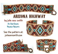 Find this GREAT Fall odd count peyote pattern at You can find Peyote patterns and more on our website.Find this GREAT Fall odd count peyote pattern at Peyote Beading Patterns, Beaded Necklace Patterns, Loom Beading, Bracelet Patterns, Crochet Ring Patterns, Bead Loom Bracelets, Bead Crochet, Bead Weaving, Bracelets