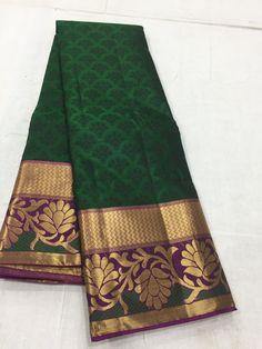Banarsi Saree, Silk Saree Kanchipuram, Kanjivaram Sarees, Crepe Silk Sarees, Pure Silk Sarees, Ethnic Sarees, Indian Sarees, Saree Color Combinations, Saree Tassels Designs