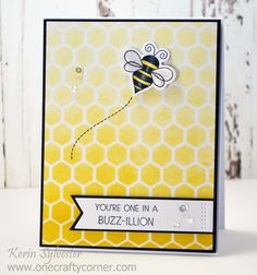 Welcome to The Card Concept ! Each week we offer up a challenge for you to try, and we hope that you will create a card in one of the styl. Bee Cards, Mft Stamps, Cricut Cards, You Are My Sunshine, Distress Ink, Simple Designs, Little Ones, Birthday Cards, Give It To Me