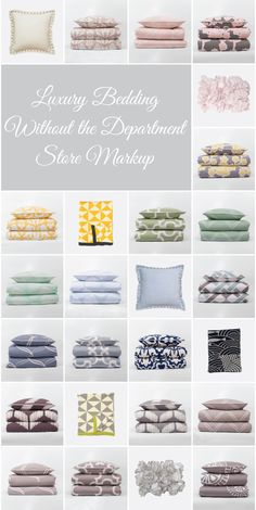From luxury sheets to designer bedding and colorfully patterned duvets, find your perfect bedding that fits your style. Luxury Sheets, Luxury Bedding, My New Room, My Room, Dorm Room, Home Bedroom, Bedroom Decor, Bedroom Ideas, Master Bedroom