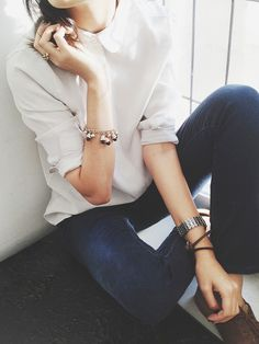simple white + denim