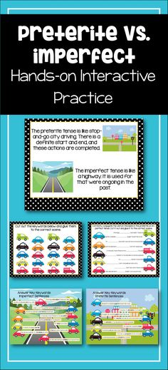 Spanish Preterite and Imperfect Interactive Worksheet Hands on visual learning Spanish Grammar, Spanish Teacher, Spanish Classroom, Classroom Ideas, Italian Lessons, Spanish Lessons, Spanish Teaching Resources, Teacher Resources, Preterite Spanish
