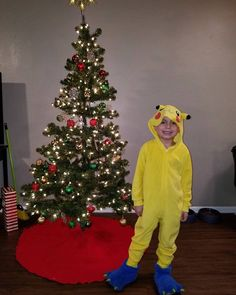 """Adrian Tapia on Instagram: """"Forgot to post this. My son taking a picture next to the Christmas tree after we set it up. #pikachu #pokemonpajamas"""" Pokemon Pajamas, Pikachu, Christmas Tree, Holiday Decor, Instagram, Teal Christmas Tree, Xmas Trees, Christmas Trees, Xmas Tree"""