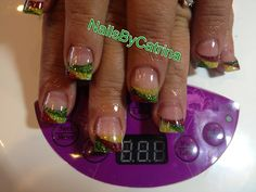 Rasta Acrylic Nails Rasta nails for my friend