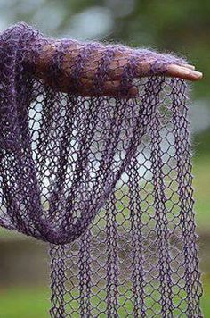"""""""Silk Cloud"""" Pattern Simple Ladder Lace- Cast on 24 sts (or any number of stitches dividable with 4). Knit 2 rows Knit pattern row: K4, (YO, K2tog, K2) repeat between ( ) 5 times. Repeat the pattern row until your scarf is at desired length. Knit 1 row."""