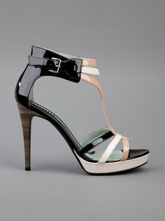 Tricolor patent sandal from Sportmax