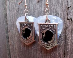 POW MIA Charm Guitar Pick Earrings - Pick Your Color