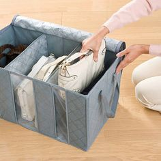 Clothes Quilts Storage Bags Folding Transparent Organizer Bags Bamboo Portable Storage Container added onto home, essentials, Storage Bags For Clothes, Quilt Storage, Handbag Storage, Clothing Storage, Blanket Storage, Closet Organization, Storage Containers, Storage Chest, Quilts