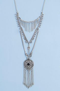 Willow Tassel Stone Detailed Necklace