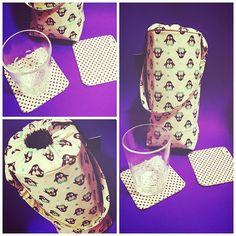 Bolsinha térmica porta garrafa + kit porta copos: encomenda pronta e a caminho ✈️ #portacopos #portagarrafa #termica #termicos #pinguim #pinguins #pinguino #penguin