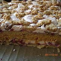wierzch, a pozostala czescia wylepiamy spod blachy ( Polish Desserts, Polish Recipes, Sweet Recipes, Cake Recipes, Vegan Sweets, Christmas Baking, Food Cakes, Yummy Cakes, Cake Cookies