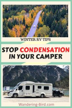 Motorhome Living- Looking for way to stop condensation in your Motorhome, RV or campervan? Here are 12 ways to help reduce that annoyance of winter camping- condensation! (You won't believe number Road Trip Essentials, Road Trip Hacks, Camping Hacks, Road Trips, Rv Hacks, Tent Camping, Campsite, Glamping, Camping Ideas