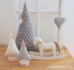 ♥ 5-teilige Weihnachtsdeko in grau ♥