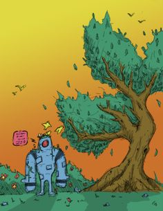 Robot and tree