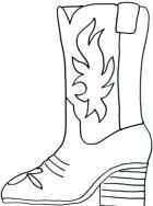 Cowboy Boot Coloring Page - Schuhes für Frauen Cowboy Theme, Cowgirl Party, Western Theme, Free Coloring, Coloring Pages, Cowboy Boot Crafts, Western Clip Art, Projects For Kids, Craft Projects