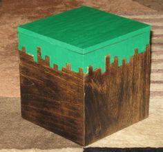 Minecraft Grass Block Box by OberonWoodcraft on Etsy, $25.00