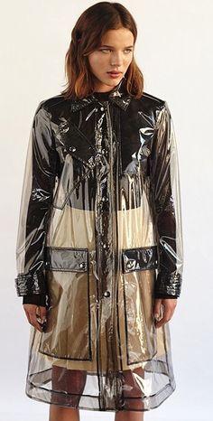 Rain coat Fashion Week - Trench Rain coat With Hood - Rain coat Outfit Shorts - - Vinyl Raincoat, Raincoat Outfit, Blue Raincoat, Plastic Raincoat, Plastic Pants, Clear Raincoat, Raincoats For Women, Jackets For Women, Transparent Raincoat
