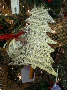 Simple sheet music ornament--No Place Like Home LLC