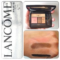 Makeup Review, Swatches: Lancôme Color Design Eye Brightening All-In-One 5 EyeShadow & Liner Palette – New Peach Opulence Shade
