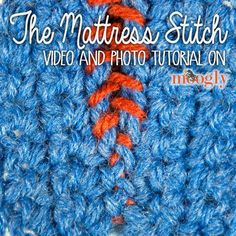 Seaming your crochet pieces is easy - and invisible! - with the Mattress Stitch. This video and photo tutorial will show you how it's done!