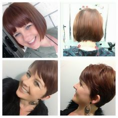 Before & After Pixie do - April 2013 ( loving short hair)