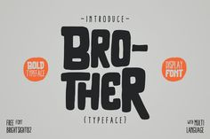 Brother Typeface by giemons on Envato Elements Design Plat, Font Design, Design Poster, Vector Design, Graphic Design, Creative Presentation Ideas, Design Presentation, Typeface Font, Script Logo