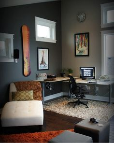 Where to Squeeze a Home Office into a Full House?