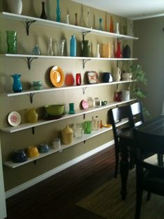would work well for our little dining room with no room for a china cabinet