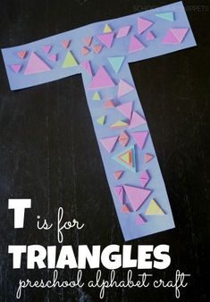 Letter T was our latest alphabet craft. My 3 year old was kept busy decorating … - Preschool Children Activities Letter T Activities, Preschool Letter Crafts, Alphabet Letter Crafts, Abc Crafts, Preschool Projects, Alphabet Book, Preschool Activities, Letter Tracing, Spanish Alphabet