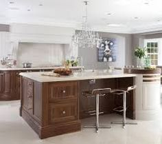 Love the quirky painting in such an elegant kitchen by Hayburn & Co Kitchen Collection, Beautiful Kitchens, Home Kitchens, Custom Kitchen Island, Interior, Elegant Kitchens, Kitchen Design, Walnut Wood Kitchen, Best Kitchen Designs